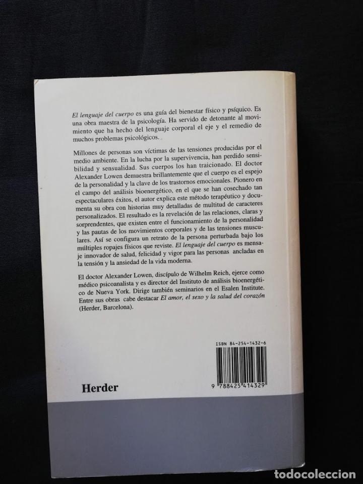 Libros de segunda mano: EL LENGUAJE DEL CUERPO - ALEXANDER LOWEN - Foto 2 - 204997031