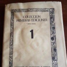 Libros de segunda mano: LIBRO DE LA ANATOMÍA HUMANA COLECCIÓN PRIMERAS EDICIONES. Lote 205757865