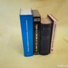 Livres d'occasion: LOTE DE 4 LIBROS DE MEDICINA FAMILIAR, ENCUADERNACIÓN EDITORIAL. Lote 205768677