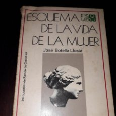 Libros de segunda mano: LIBRO 1482 ESQUEMA DE LA VIDA DE LA MUJER JOSE BOTELLA LLUSIA SECCIONES AUSTRIAL ESPASA CALPE. Lote 206293467