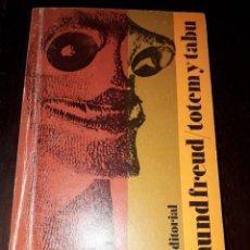 Libros de segunda mano: LIBRO 1480 TOTEM Y TABU SIGMUND FREUD ALIZANZA EDITORIAL. Lote 206294475