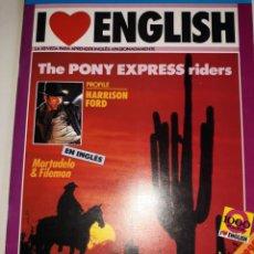 Libros de segunda mano: I LOVE ENGLISH 5 APRENDE INGLÉS APASIONADO HARRISON FORD INDY STRIKES PONY EXPRESS RIDERS SUSPENSE S. Lote 206912368