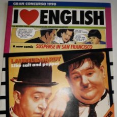 Libros de segunda mano: I LOVE ENGLISH 4 APRENDE INGLÉS APASIONADO LAUREL HARDY SALT PEPPER CYNDI LAUPER SUSPENSE SAN FRANCI. Lote 206913143