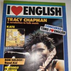 Libros de segunda mano: I LOVE ENGLISH 2 APRENDE INGLÉS APASIONADO TRACY CHAPMAN BOB GELDOF BAND AID KATE HIMALAYAS QUIZ GAM. Lote 206914178