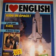 Libros de segunda mano: I LOVE ENGLISH 1 APRENDE INGLÉS APASIONADO U2 FAMOUS GAMES LETTERS BRITISH LIFE KATE MANUSCRIPT CHA. Lote 206914578