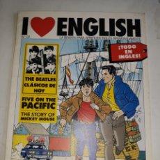 Libros de segunda mano: I LOVE ENGLISH 10 APRENDE INGLÉS APASIONADO BEATLES CLASIC FIVE PACIFIC BOAT CROSSWORD POSTMAN GAMES. Lote 206915060