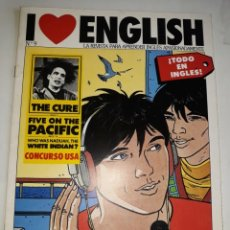 Libros de segunda mano: I LOVE ENGLISH 9 APRENDE INGLÉS APASIONADO THE CURE FIVE PACIFIC NADUAH WHITE INDIAN CROSSWORD POSTM. Lote 206915403