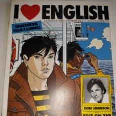 Libros de segunda mano: I LOVE ENGLISH 8 APRENDE INGLÉS APASIONADO DON JOHNSON FIVE PACIFIC DISCOVER SOUTH POLE CONCURSO USA. Lote 206915866