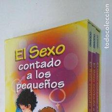 Libros de segunda mano: EL SEXO CONTADO A LOS PEQUEÑOS (2 LIBROS + 1 CD. ESTUCHE DE CARTÓN). TDK365B. Lote 206930831