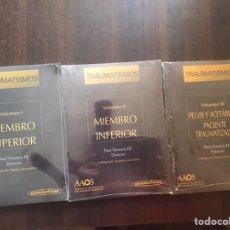 Libros de segunda mano: TRAUMATISMOS. MIEMBRO SUPERIOR. MIEMBRO INFERIOR. PELVIS Y ACETÁBULO. PRECINTADO. Lote 207045165