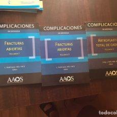 Libros de segunda mano: COMPLICACIONES EN ORTOPEDIA. FRACTURAS ABIERTAS I Y II, Y ARTROPLASTIA TOTAL DE CADERA. Lote 207045196