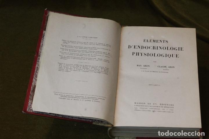 Libros de segunda mano: Éléments dendocrinologie physiologique,Max y Claude Aron,Libraires de lacadémie de médecine,1950. - Foto 2 - 208842438