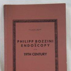 Libros de segunda mano: PHILIPP BOZZINI AND ENDOSCOPY IN THE 19TH CENTURY,H.J. AND M.A. REUTER.. Lote 208917330