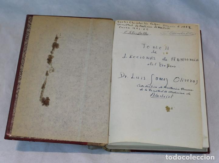 Libros de segunda mano: Cinco tomos antiguos de anatomía,encuadernados en piel y cartoné, Gómez Oliveros y Testut. - Foto 4 - 208919425