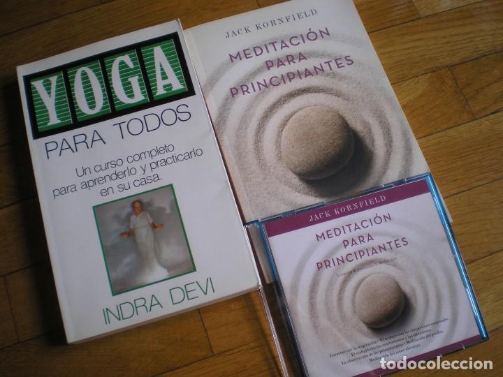YOGA PARA TODOS, MEDITACIÓN PARA PRINCIPIANTES Y CD CON MEDITACIONES (Libros de Segunda Mano - Ciencias, Manuales y Oficios - Medicina, Farmacia y Salud)