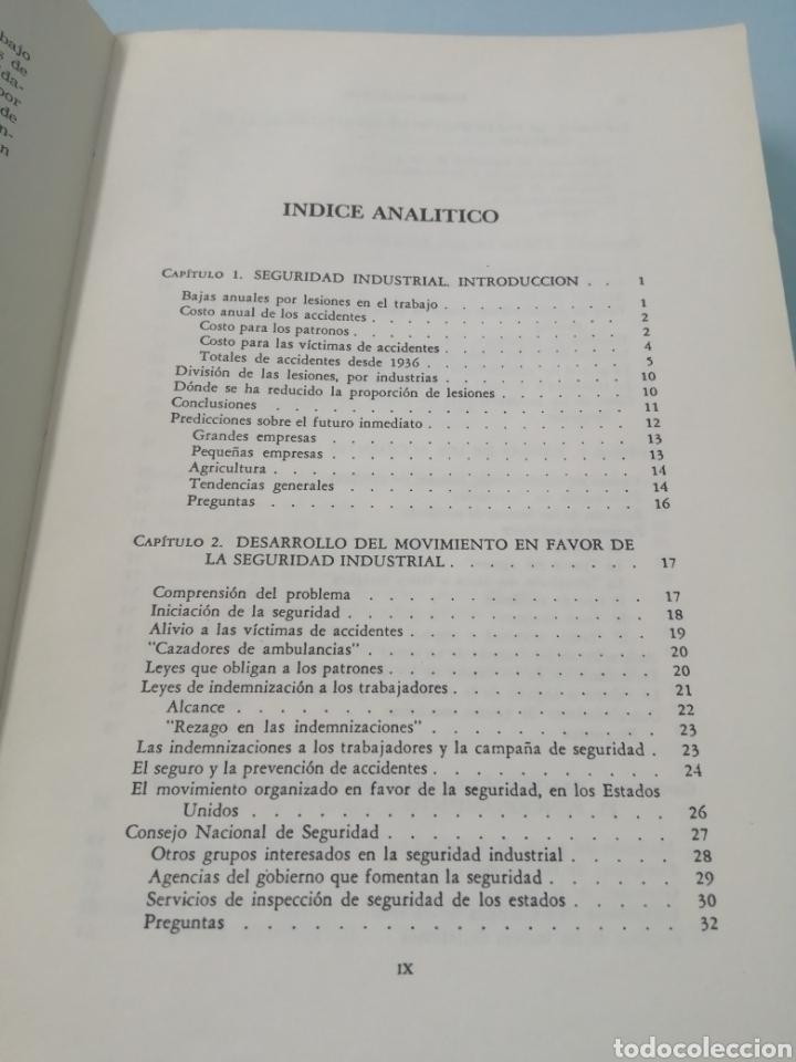 Libros de segunda mano: MANUAL DE PREVENCIÓN DE ACCIDENTES DE TRABAJO. R. P. BLAKE. ED. REVERTÉ, 1962. - Foto 5 - 208998763