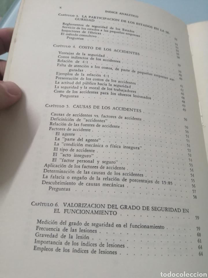 Libros de segunda mano: MANUAL DE PREVENCIÓN DE ACCIDENTES DE TRABAJO. R. P. BLAKE. ED. REVERTÉ, 1962. - Foto 6 - 208998763