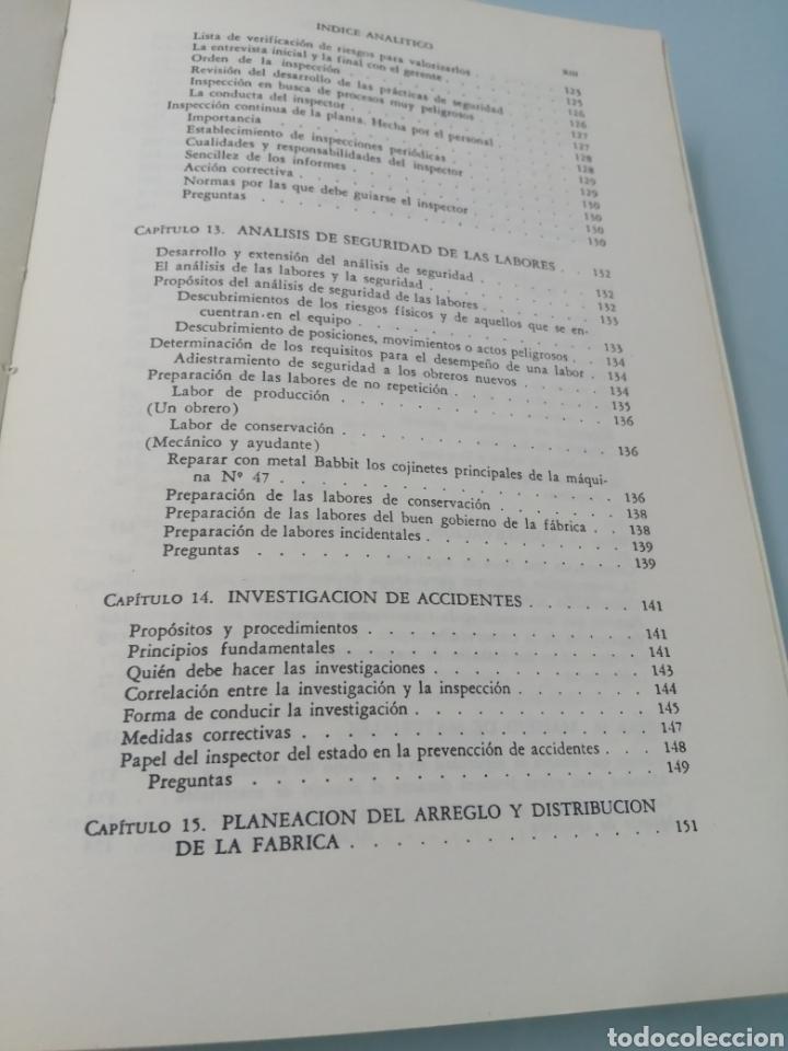 Libros de segunda mano: MANUAL DE PREVENCIÓN DE ACCIDENTES DE TRABAJO. R. P. BLAKE. ED. REVERTÉ, 1962. - Foto 9 - 208998763
