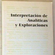 Libri di seconda mano: INTERPRETACIÓN DE ANALÍTICAS Y EXPLOACIONES - LETICIA DIZ / MANUEL SAEZ - VER INDICE. Lote 210325163