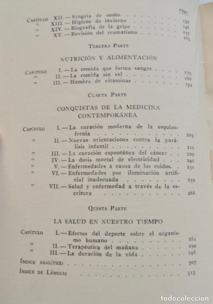 Libros de segunda mano: Mario Musella. ¿Se Alarga la Vida Humana? (La Salud en Nuestro Tiempo). Salvat. 1ª Edición. 1948 - Foto 4 - 210829379