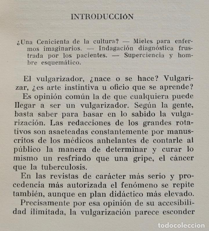 Libros de segunda mano: Mario Musella. ¿Se Alarga la Vida Humana? (La Salud en Nuestro Tiempo). Salvat. 1ª Edición. 1948 - Foto 5 - 210829379