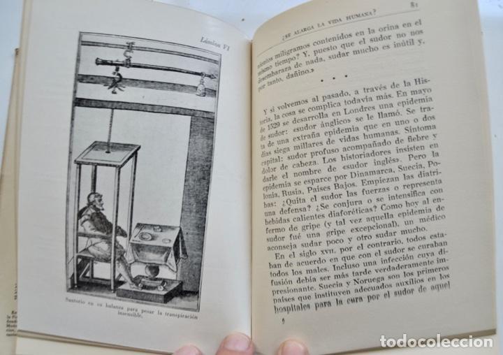 Libros de segunda mano: Mario Musella. ¿Se Alarga la Vida Humana? (La Salud en Nuestro Tiempo). Salvat. 1ª Edición. 1948 - Foto 9 - 210829379