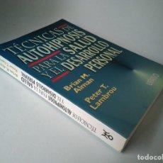 Libros de segunda mano: TÉCNICAS DE AUTOHIPNOSIS PARA LA SALUD Y EL DESARROLLO PERSONAL.. Lote 210932872