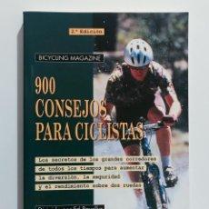 Libros de segunda mano: 900 CONSEJOS PARA CICLISTAS - TUTOR. Lote 212264896