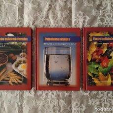 Libros de segunda mano: LOTE DE 3 LIBROS DE MEDICINA NATURAL. EDITA CULTURA S.A.. Lote 212814667