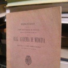 Libros de segunda mano: DISCURSO, REAL ACADEMIA DE MEDICINA, 1914, MADRID. Lote 213728958