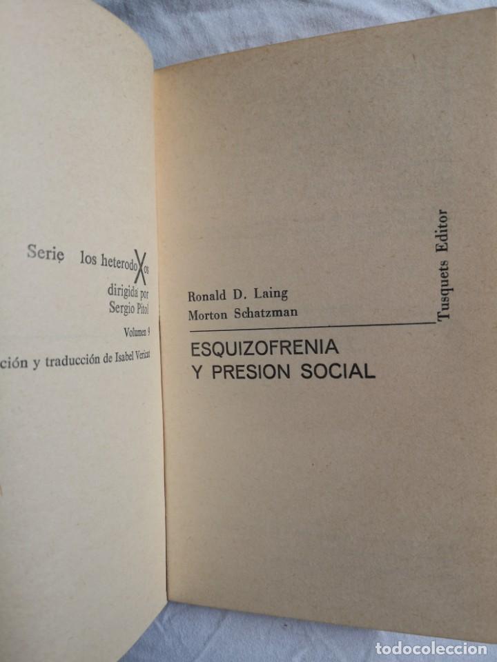 Libros de segunda mano: ESQUIZOFRENIA Y PRESIÓN SOCIAL RONALD D. LANG CUADERNOS ÍNFIMOS - Foto 2 - 213767178