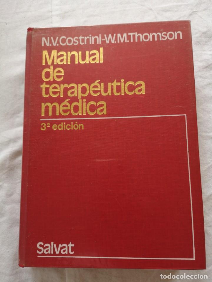 MANUAL DE TERAPÉUTICA MÉDICA SALVAT 1980 (Libros de Segunda Mano - Ciencias, Manuales y Oficios - Medicina, Farmacia y Salud)