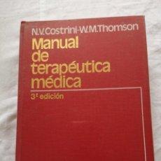 Libros de segunda mano: MANUAL DE TERAPÉUTICA MÉDICA SALVAT 1980. Lote 213768252
