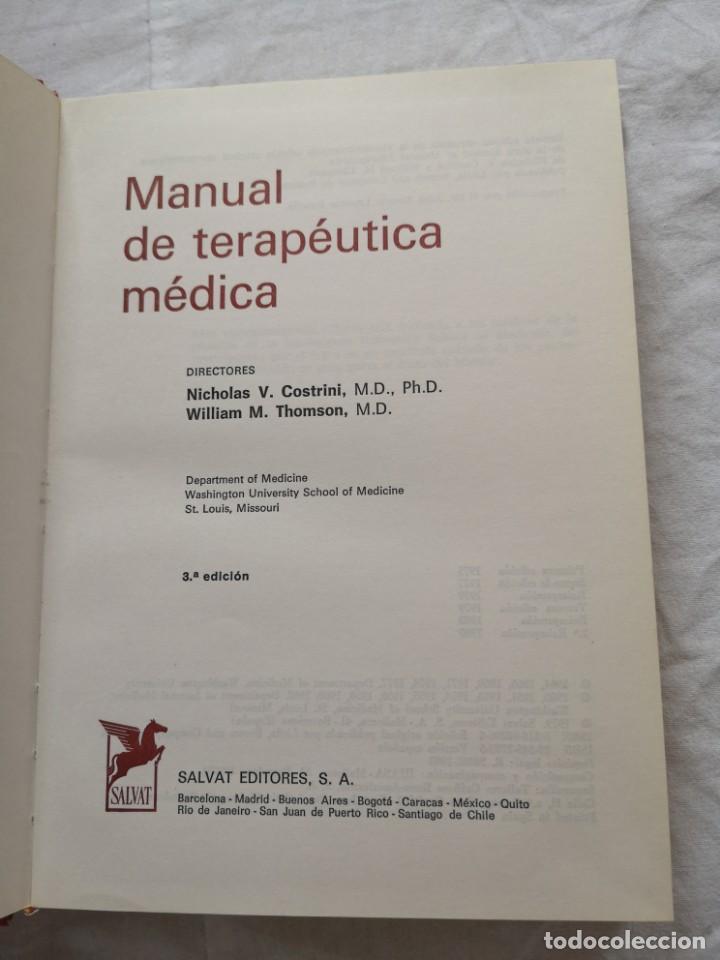 Libros de segunda mano: MANUAL DE TERAPÉUTICA MÉDICA SALVAT 1980 - Foto 2 - 213768252