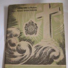 Libros de segunda mano: MEMORANDUM DR. JOAQUIN GARCIA ROCA - CONSULTORIO DE MEDICINA NATURAL SANATORIUM - 1959 - 39 PAGINAS. Lote 214529803