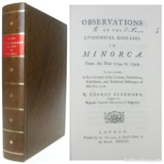 Libros de segunda mano: 1751 - BALEARES, MEDICINA - OBSERVACIONES SOBRE LAS ENFERMEDADES EPIDÉMICAS DE MENORCA - FACSÍMIL. Lote 214976331