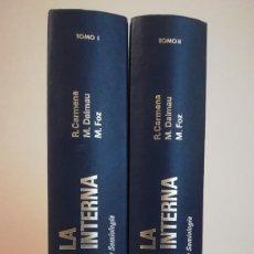 Libros de segunda mano: BASES DE LA MEDICINA INTERNA. CARMENA-DALMAU-FOZ. TOMO I Y II. Lote 215566723