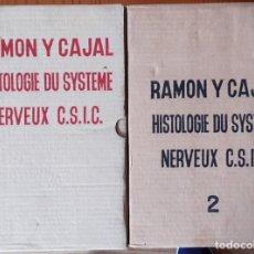 Libros de segunda mano: HISTOLOGIE DU SYSTÈME NERVEUX DE L'HOMME ET DES VERTEBRES - RAMÓN Y CAJAL - 1972 EMBALAJE ORIGINAL. Lote 215656643