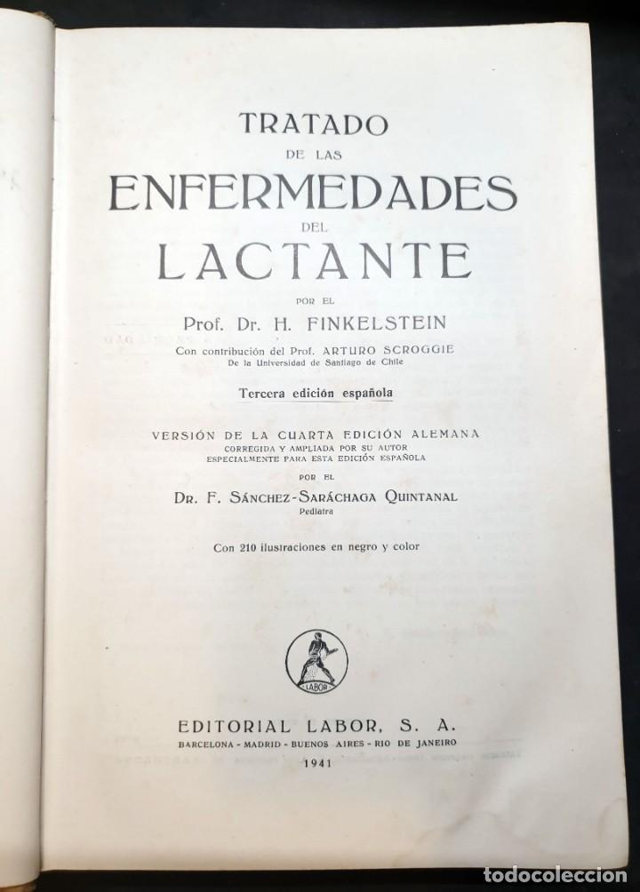 Libros de segunda mano: Tratado de las enfermedades del lactante - 3ª EDICION - 1941. 25 cm. XV, 919 p - Foto 3 - 215870331