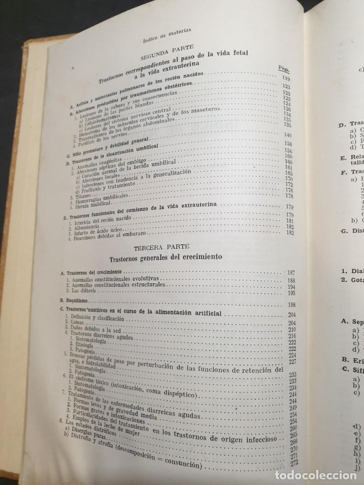 Libros de segunda mano: Tratado de las enfermedades del lactante - 3ª EDICION - 1941. 25 cm. XV, 919 p - Foto 19 - 215870331