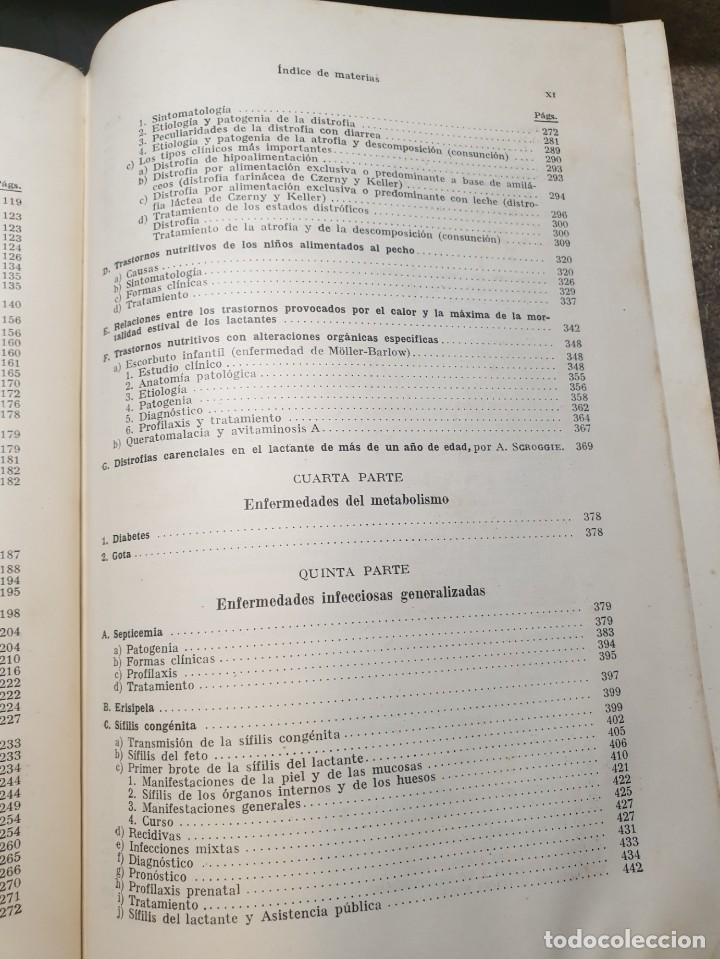 Libros de segunda mano: Tratado de las enfermedades del lactante - 3ª EDICION - 1941. 25 cm. XV, 919 p - Foto 20 - 215870331