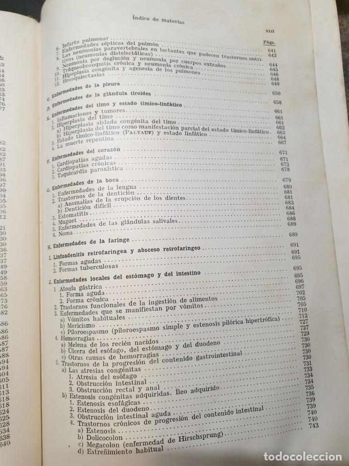 Libros de segunda mano: Tratado de las enfermedades del lactante - 3ª EDICION - 1941. 25 cm. XV, 919 p - Foto 22 - 215870331