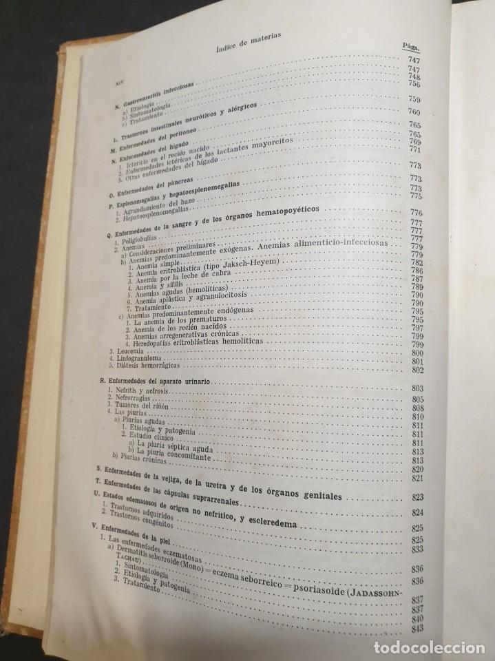 Libros de segunda mano: Tratado de las enfermedades del lactante - 3ª EDICION - 1941. 25 cm. XV, 919 p - Foto 23 - 215870331