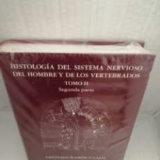 Livres d'occasion: HISTOLOGÍA DEL SISTEMA NERVIOSO DEL HOMBRE Y DE LOS VERTEBRADOS. TOMO II, SEGUNDA PARTE. Lote 218358595