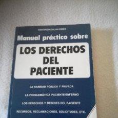 Libros de segunda mano: LOS DERECHOS DEL PACIENTE. SANTIAGO GALAN RIBES. 1988. EDICIONES FAUSI. 120 PAG. Lote 219654652