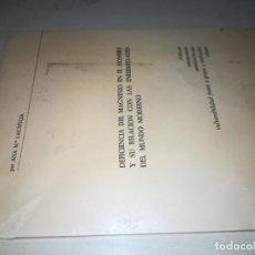 Libros de segunda mano: DEFICIENCIA MAGNESIO HOMBRE RELACION ENFERMEDADES A M LAJUSTICIA / Y305 / HOMEOPATIA NATURAL ALTE. Lote 221154308