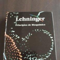 Libros de segunda mano: LEHNINGER. PRINCIPIOS DE BIOQUÍMICA. EDICIONES OMEGA. 1986. Lote 221743821