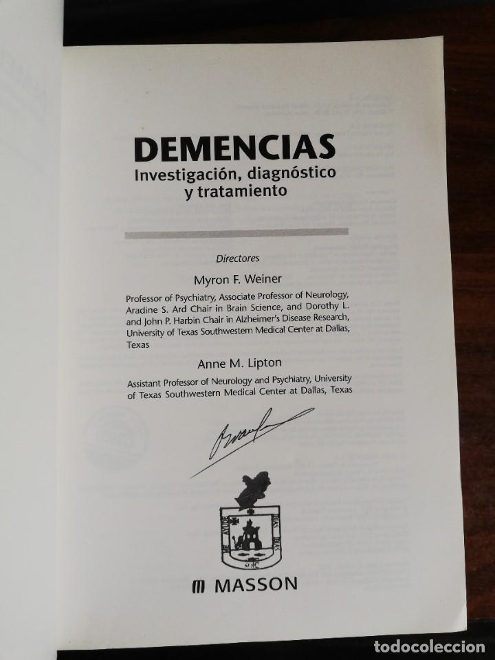 Libros de segunda mano: DEMENCIAS. INVESTIGACIÓN, DIAGNÓSTICO Y TRATAMIENTO. MYRON F. WEINER / ANNE M. LIPTON - Foto 2 - 221912791