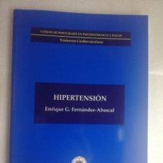 Libros de segunda mano: HIPERTENSION- UNED - ENRIQUE G FERNANDEZ ABASCAL POSTGRADO PSICOPATOLOGIA Y SALUD. Lote 227785570