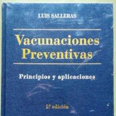 Libros de segunda mano: VACUNACIONES PREVENTIVAS. LUIS SALLERAS. 2ª EDICIÓN. NUEVO, RETRACTILADO.. Lote 229692390